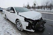 Nehoda 31. ledna u Drásova.