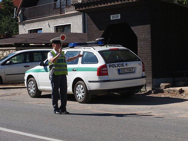 Nedělní policejní kontrola v Drásově