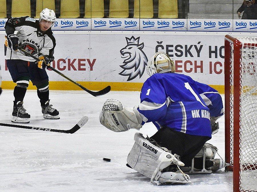 Příbram (v bílém) porazila doma v krajské lize Kralupy 4:1