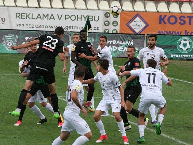 Z utkání 3. kola FNL: Příbram - Vlašim (2:3).