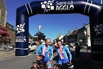 Příbramští cyklisté Martin Hebík a Martin Boubal (na snímku), ale ani jejich kolegové Tomáš Jakoubek a Jiří Pokorný v reprezentačním dresu nezklamali.