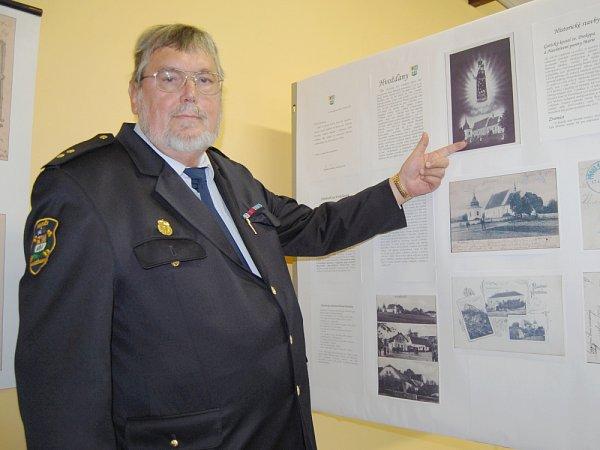 Hospodář hvožďanských dobrovolných hasičů Josef Kabát.