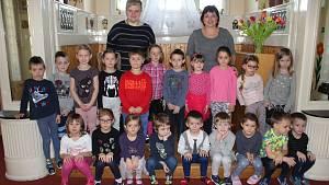 Předškoláci z Mateřské školy Kličkova vila v Příbrami.