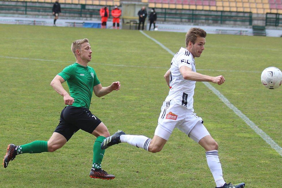 Ze zápasu 26. kola FORTUNA:LIGY mezi Příbramí a Olomoucí.