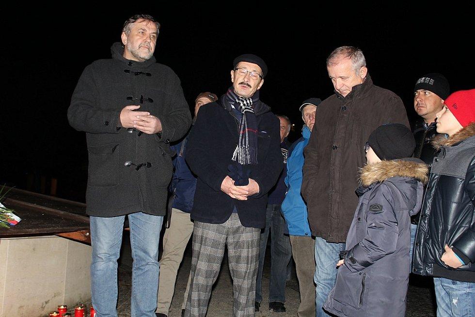Příbramští patrioté zleva Josef Vacek, Ivan Šedivý, Václav Černý.