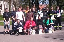 Železný hasič v Zalužanech.