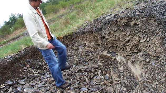 Vystrkov - lokalita, kterou zcela rozebrali sběrači trilobitů.
