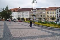 Opravené náměstí TGM v Sedlčanech.