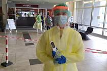 Barbora Švarcová v příbramské nemocnici.