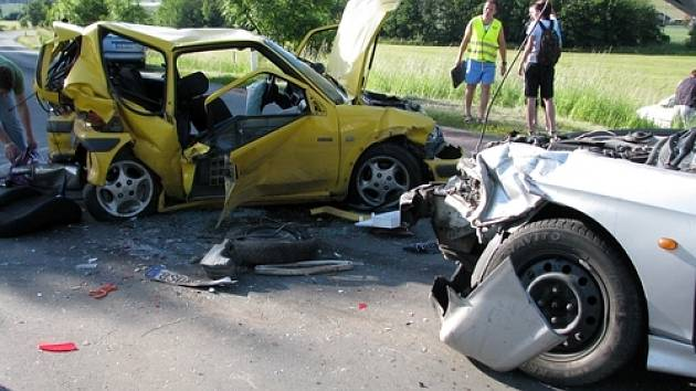 Nehoda na silnici I/66 poblíž Slivice