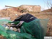 Odpadky ve vojenských Brdech.