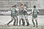 Radost fotbalistů Jablonce - Utkání 16. kola první fotbalové ligy: FK Jablonec - 1. FK Příbram, 24. ledna 2021 v Jablonci nad Nisou.
