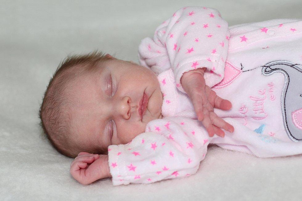 Kateřina Novotná se narodila 27. ledna 2019 s váhou 2,84 kg a mírou 48 cm Pavle a Lukášovi Kozárovic. Doma se těší Nela (9).