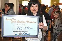 V průběhu akademie byl Ondrově rodině předán šek s více než 116 tisíci korunami.