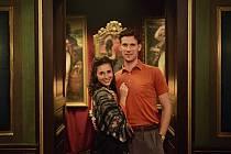 S manželkou Hanou při natáčení filmu Zlatý podraz. Foto: archiv J. Vojty
