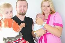 V úterý 22. července  maminka Lucie spolu s tatínkem Ondřejem a synkem Tomáškem z Mokrovrat přivítali na světě Davida Loučku. Vážil 3,65 kg a měřil 50 cm.