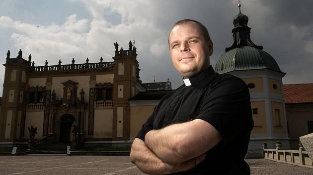 Kněz David Horáček na Svaté Hoře v Příbrami.