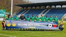 Nechme děti sportovat! Fotbalisté Příbrami podpořili před víkendovým zápasem 27. kola FORTUNA:LIGY ve Zlíně iniciativu Ligové fotbalové asociace a dalších sportovních organizací, které bojují za návrat mládeže k organizovanému tréninku.