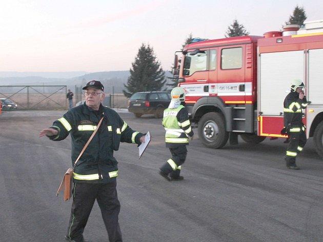 Prověřovací cvičení dobrovolných hasičů z jednotky SDH Příbram 1.