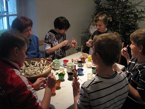 Svátečně vyzdobený hornický domek byl i minulý rok velkým lákadlem pro děti