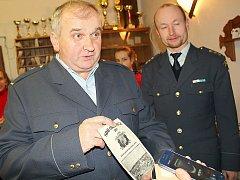 Sbor dobrovolných hasičů Obděnice, JPO 5. V popředí starosta sboru Vladimír Krejča.