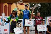 Příbramský cyklista Martin Boubal slaví vítězství na 50. ročníku závodu Tour de Bohemia.