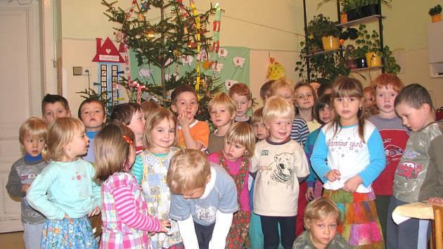 Děti z Mateřské školy Rybička v Příbrami
