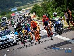 Ze silničního závodu na společném cyklistickém mistrovství České republiky a Slovenska.