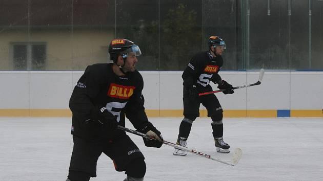 Lukáš Pech během tréninku v Dobříši.