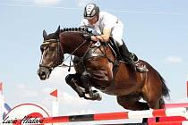 Jezdec na koni.