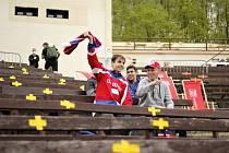Příbramští fandí lednímu hokeji 2021.
