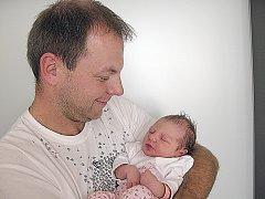 ZUZANKA Scherferová poprvé spatřila svět v úterý 6. září a v ten den vážila 3,48 kg. Životem provázet své první štěstíčko budou maminka Zuzana a tatínek Václav z Drahlína.
