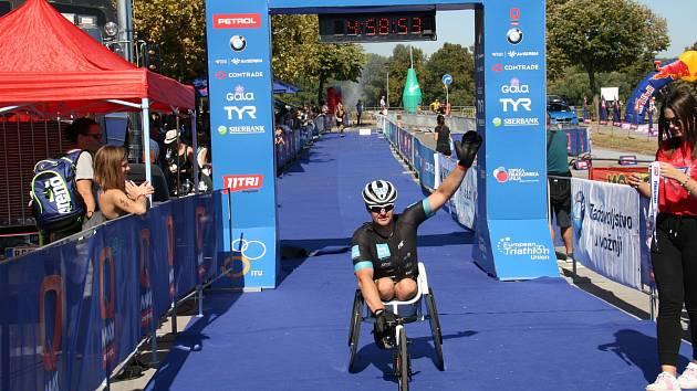 Paratriatlonista Jan Tománek absolvoval závod 11TRI Belgrade.
