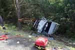 Hromadná bouračka se zraněním sedmi lidí zatarasila cestu na Prahu po D4