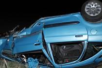 Dubnová nehoda v Ouběnicích.
