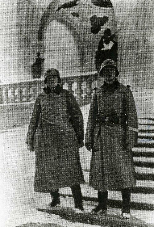 Hitlerovští vojáci na Svaté Hoře v první den okupace 15. března 1939.