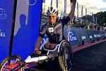 Jan Tománek během závodu Ironman Gdynia
