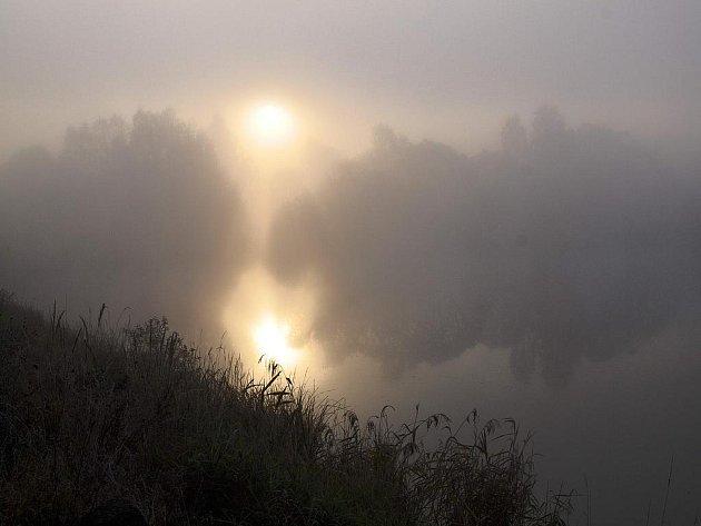 Podzimní mlha na Padrti.
