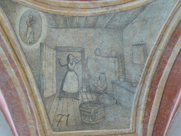 Sto svatohorských milostí: obraz číslo 71.