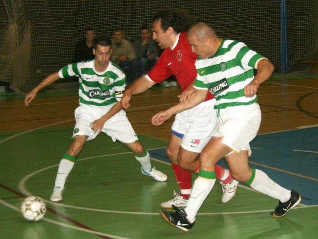 Divize futsalu: FC 83 Příbram - Celtic Kladno (9:5).