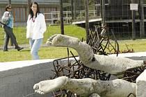 Slavnostní odhalení sochy Vzestup v Památníku Vojna.