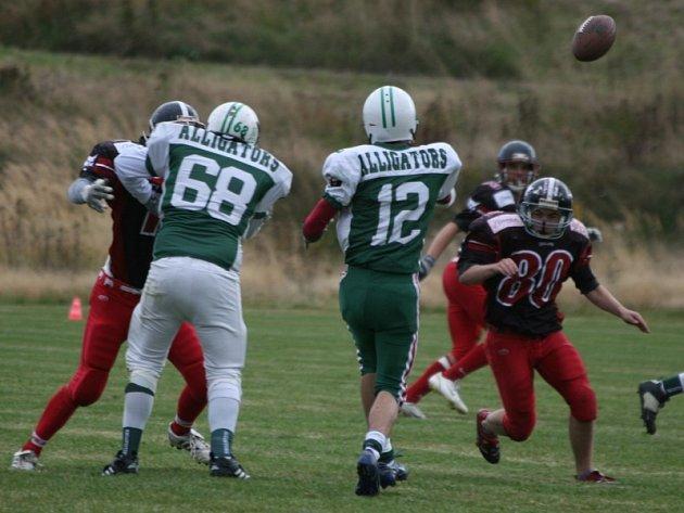 Česká juniorská liga amerického fotbalu: Bobcats - Alligators (31:0).