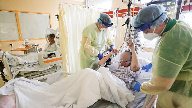 Covid oddělení nemocnice. Ilustrační foto.