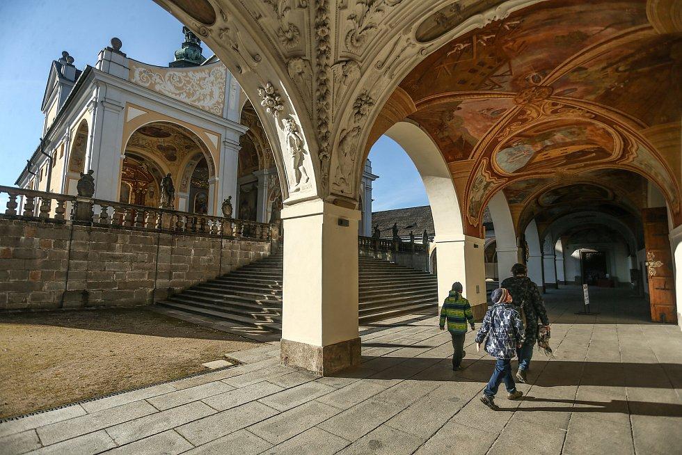 Barokní areál Svatá hora v Příbrami v sobotu 6. března 2021.