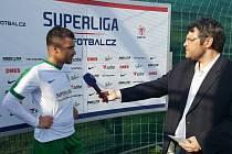 Jakub Tošovský byl jediným střelce Příbrami v Olomouci. Jeho gól jen zmírnil porážku 4:1.