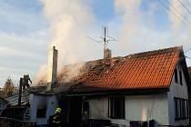 Požár ve Starém Rožmitále.