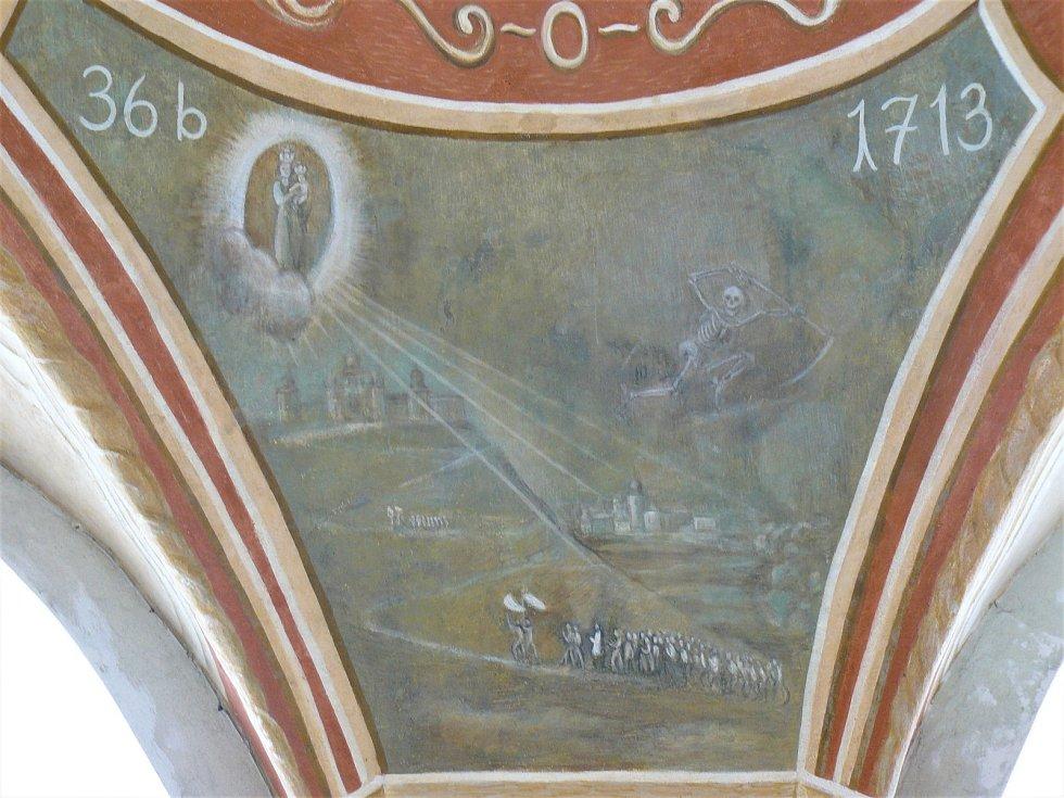 Sto svatohorských milostí: obraz číslo 36b.