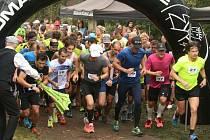 1. český marathon: start SOREX Brdského terénního půlmaratonu.