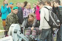 Branný závod v Jincích, kterého se kromě jinecké základní školy zúčastnily dvě příbramské.