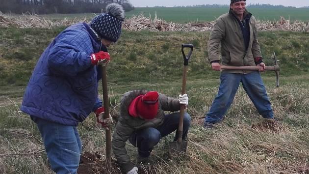 O víkendu lidé z Lazska uklízeli obec a její okolí a vysazovali novou zeleň.